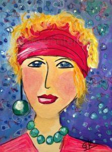 Frau mit Stirnband